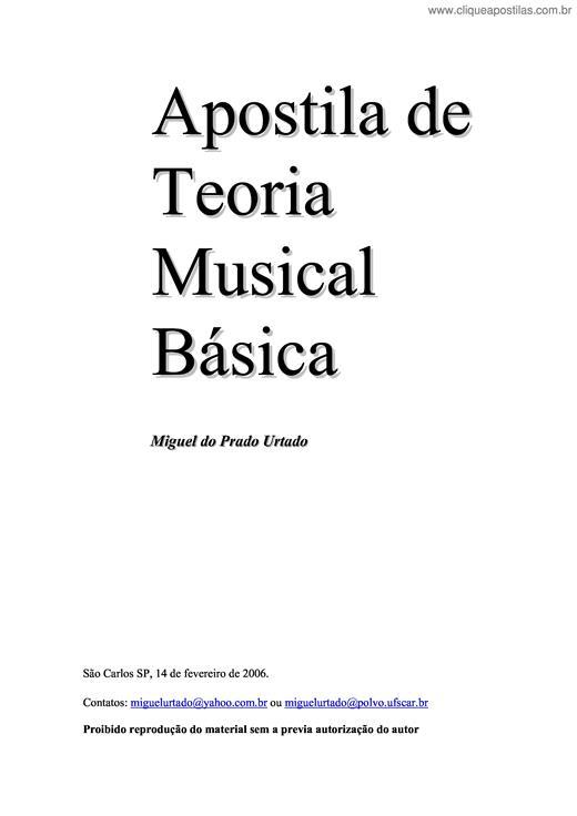 apostila de teoria musical para iniciantes