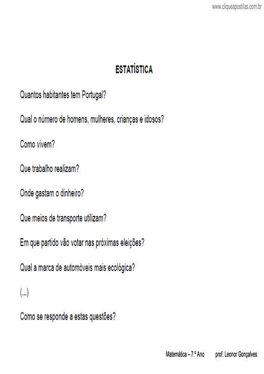 23d3f1a01 Clique Apostilas - Apostilas elaboradas por Leonor Gonçalves