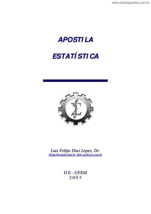 35253ab0d Clique Apostilas - Apostila Estatística