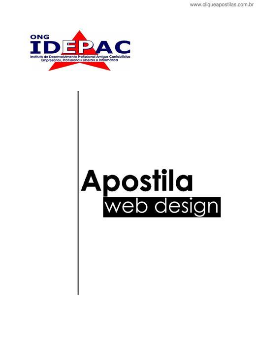 apostila de webdesign gratis