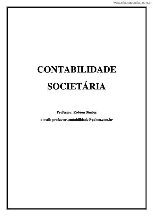 Clique Apostilas - Contabilidade Societária