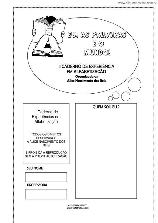 Clique Apostilas Educação Infantil Alfabetização