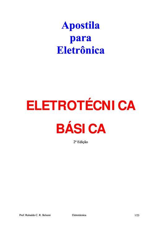 apostila de eletrotecnica basica