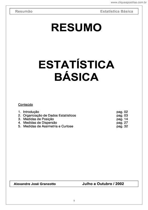 3f3a92927 Apostila completa de estatística. Exibir detalhes.