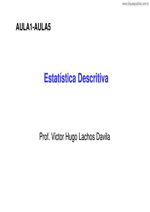 9f9f78620 Clique Apostilas - Estatística Descritiva IV