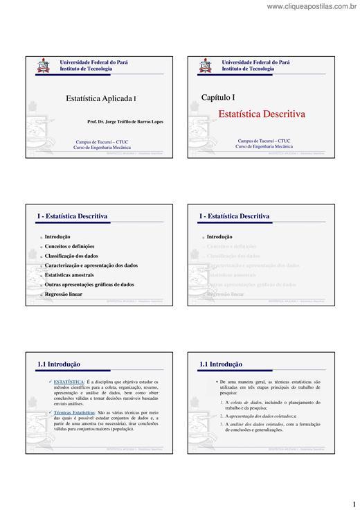 bba32f502 Clique Apostilas - Apostilas elaboradas por Jorge Teófilo de Barros ...