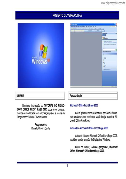 microsoft word front page