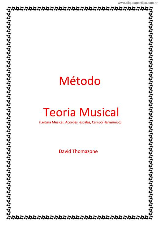 Excepcional Clique Apostilas - Apostilas de Teoria Musical AU24